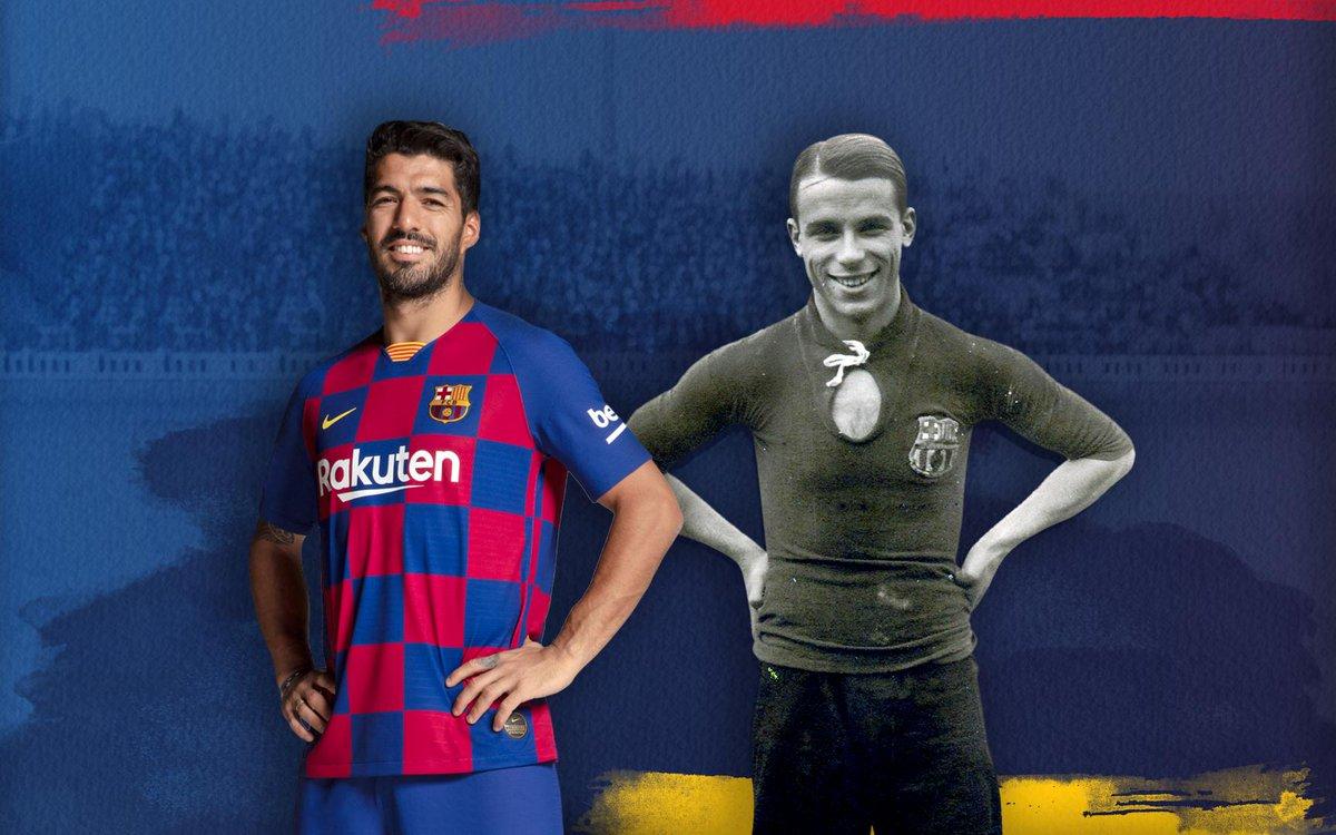 🔝 @LuisSuarez9 iguala a Samitier, con 184 goles, como cuarto máximo goleador de la historia del Barça. ¡Enhorabuena! 👏