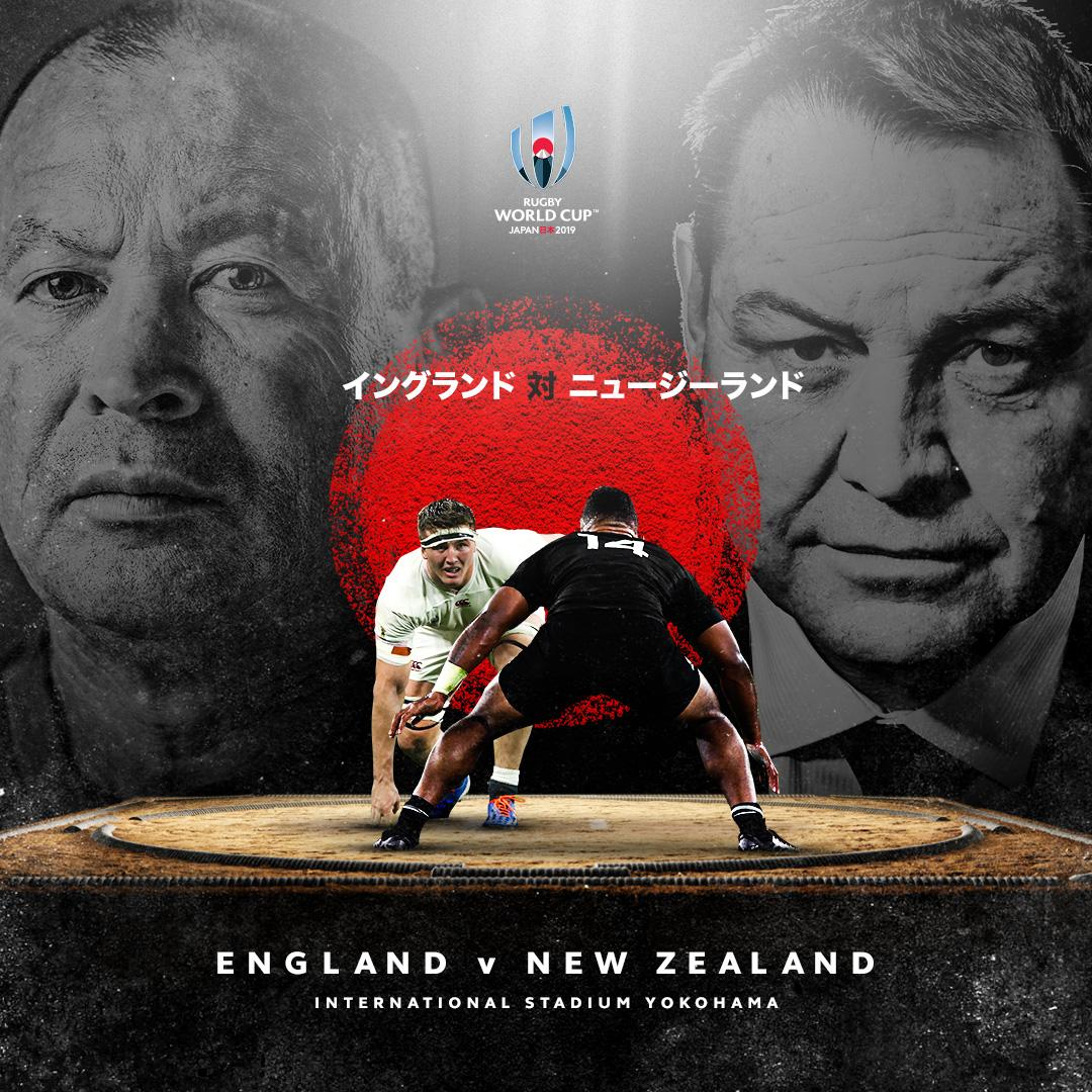 test Twitter Media - The first semi-final of Rugby World Cup 2019 will be:  @EnglandRugby v @AllBlacks   17:00hrs, 26 October  #ENGvNZL #RWC2019 https://t.co/aYcBEqNmT4