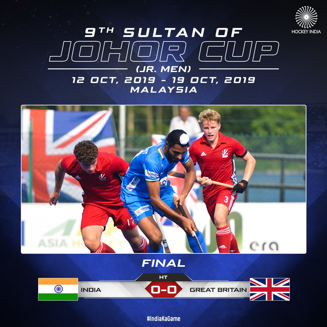 HT:  0-0   A replay from the Final of 2018! The question is, will the Final result differ from last year?  #IndiaKaGame #SultanOfJohorCup #SOJC #INDvGBR<br>http://pic.twitter.com/5sjV498XoW