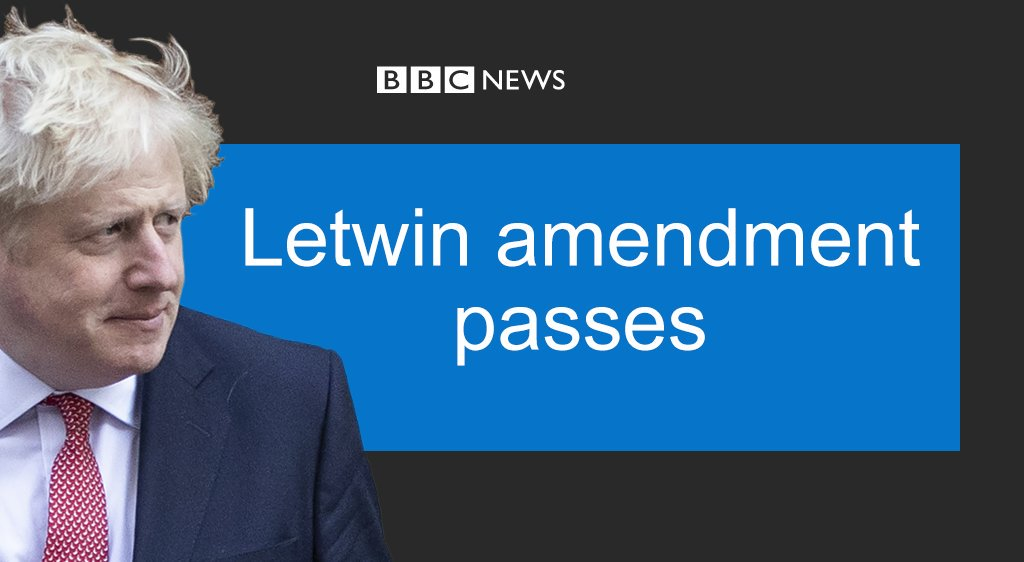 In new setback for Boris Johnson, MPs back move to delay Brexit deal until necessary legislation passed #BrexitDebate https://bbc.in/2BsY2Bj