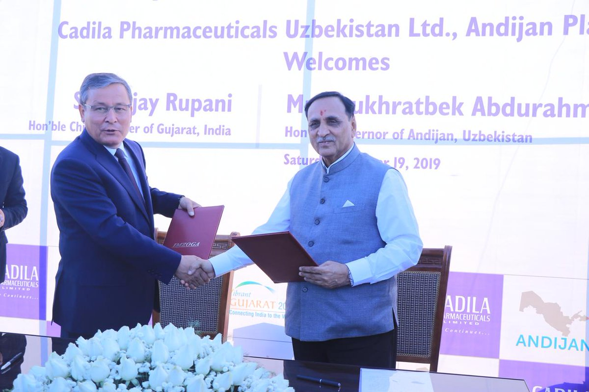 Uzbekistan and Gujarat sign 12 MoUs