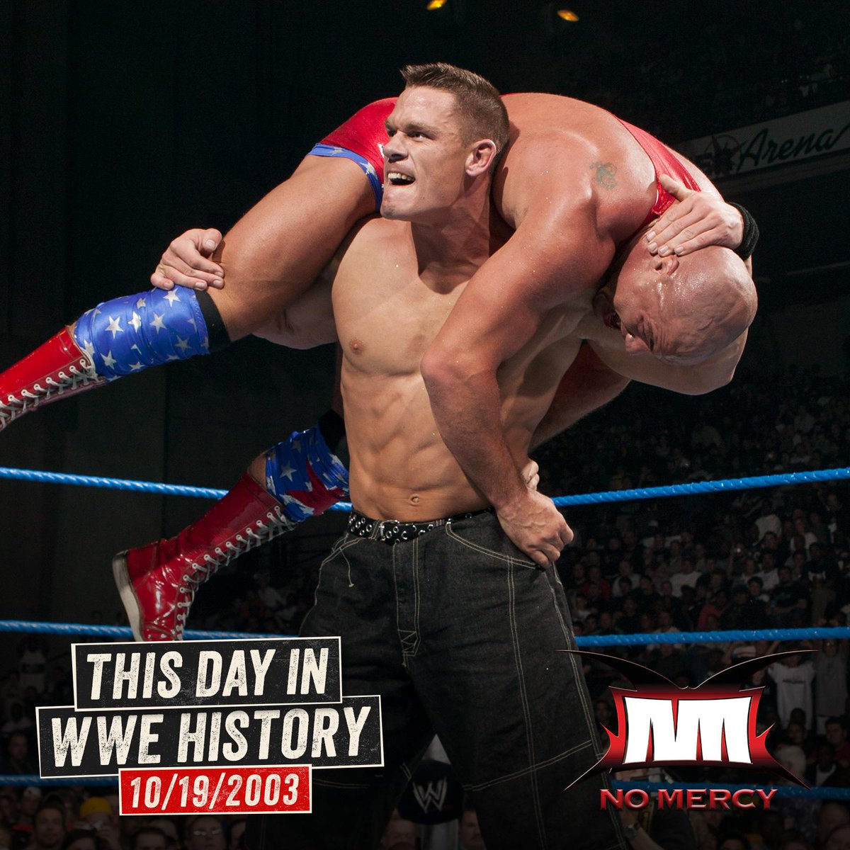 .@JohnCena battled @RealKurtAngle at WWE No Mercy on this day in 2003!