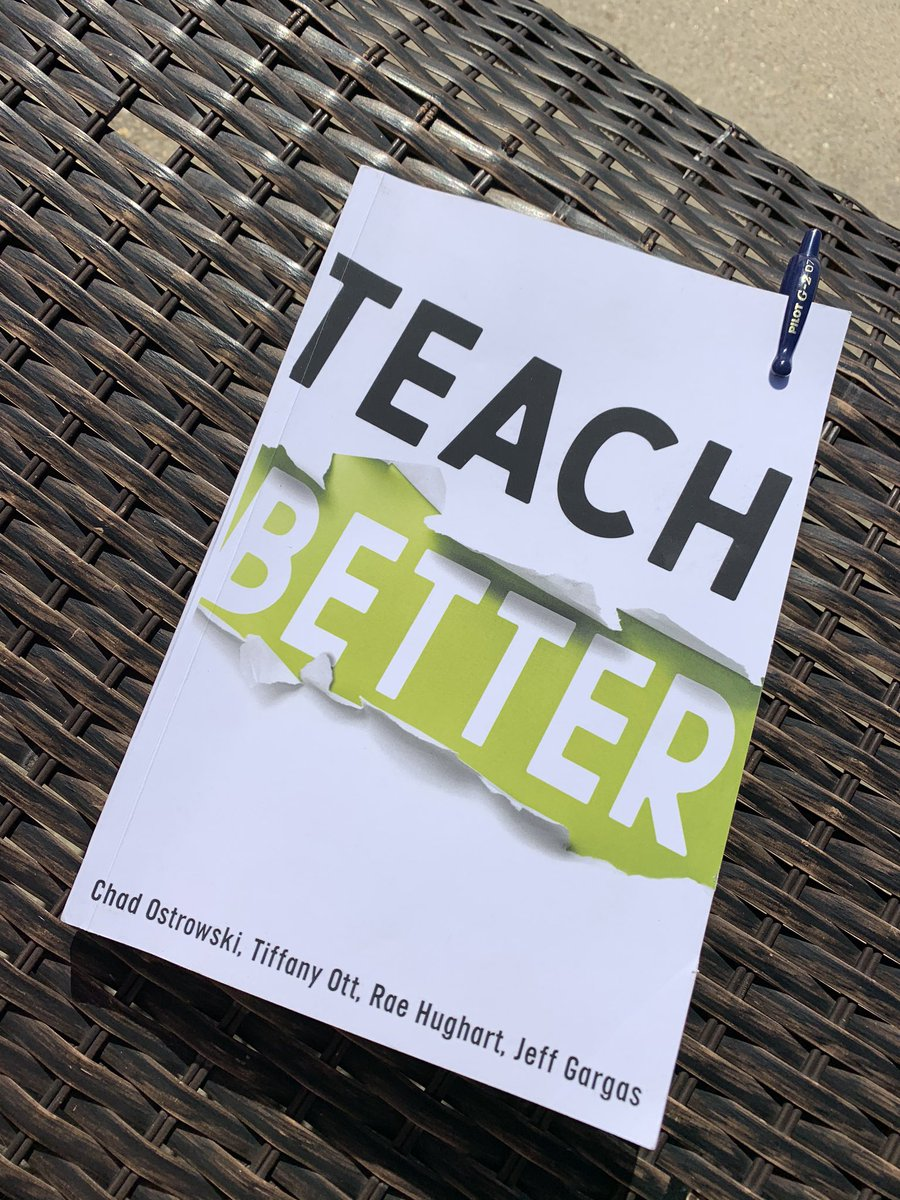 I'm only on page 26 but seriously, every educator needs to read this book! 😱😍🤯 #teachbetter