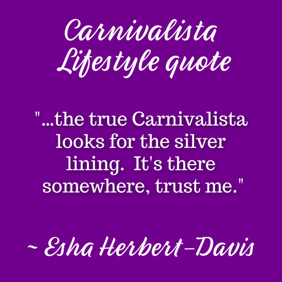 A reminder to look on the bright side from my book Carnivalista Lifestyle. I'm a strong believer of everything happens for a reason, so trust the process! #lookforthesilverlining #glasshalffull #optimist #inspiration #dailyinspiration #carnivalista #carnivalistalifestylepic.twitter.com/UmFXTSnE7H