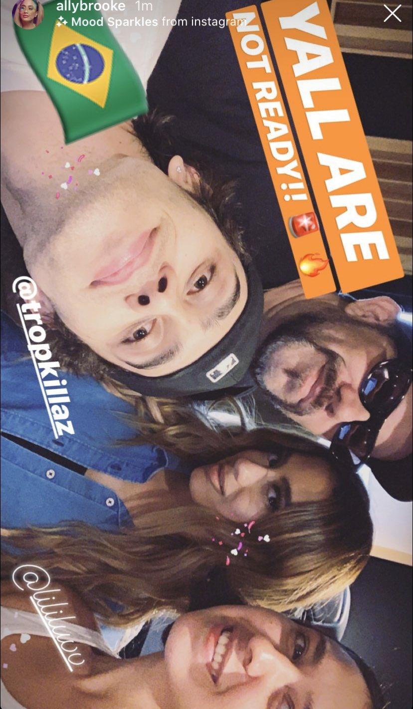 O hit vem! Ally Brooke entra em estúdio com o duo brasileiro Tropkillaz