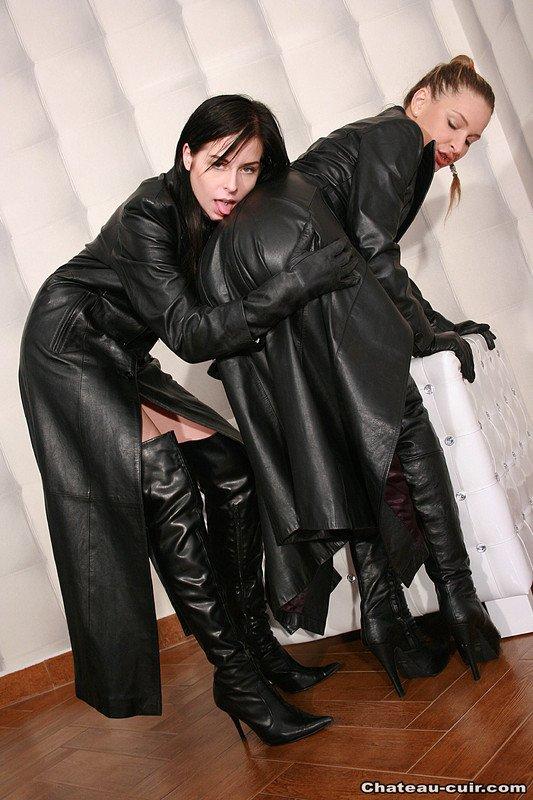 Leather jacket porn photos