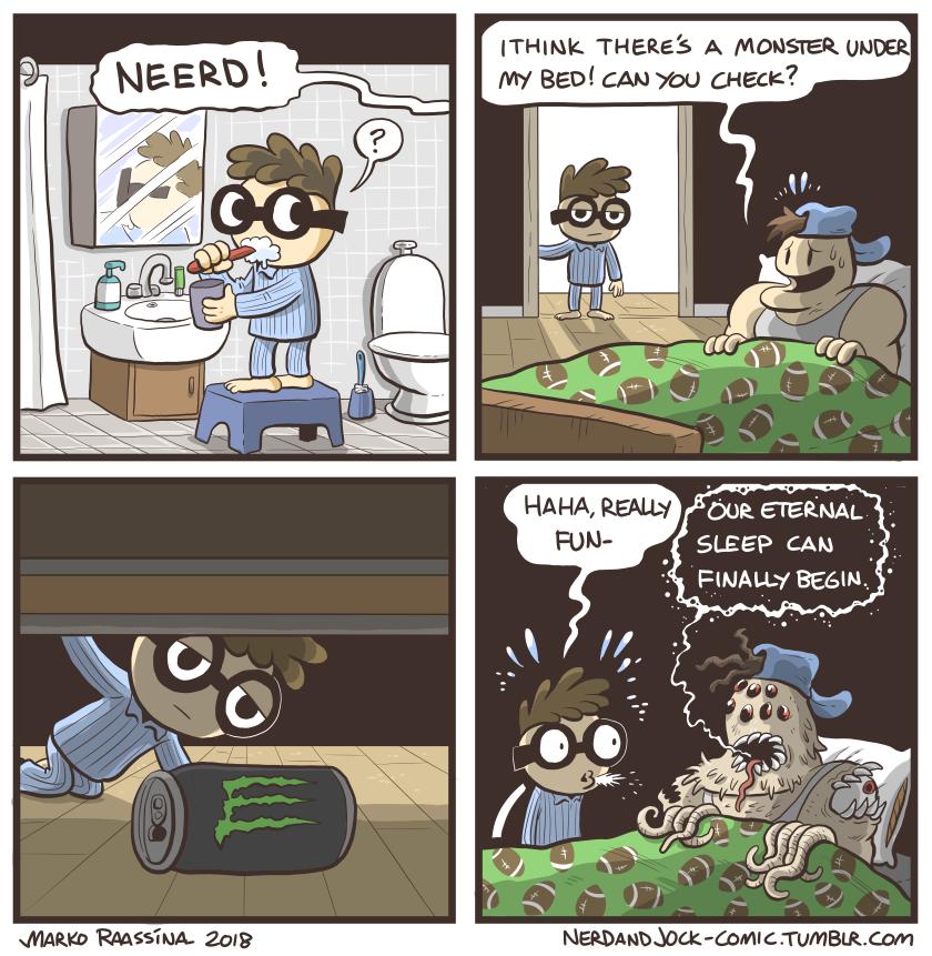 Nerd and Jock Halloween comic from last year