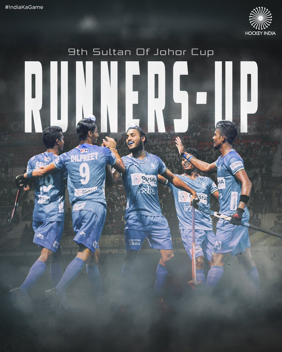 It has been an exceptional tournament for our Indian Jr. Men's Hockey Team! Give it up to the Runners-up of the 9th Sultan of Johor Cup - #TeamIndia!   #IndiaKaGame #SultanOfJohorCup #SOJC<br>http://pic.twitter.com/GMCMLLbm70