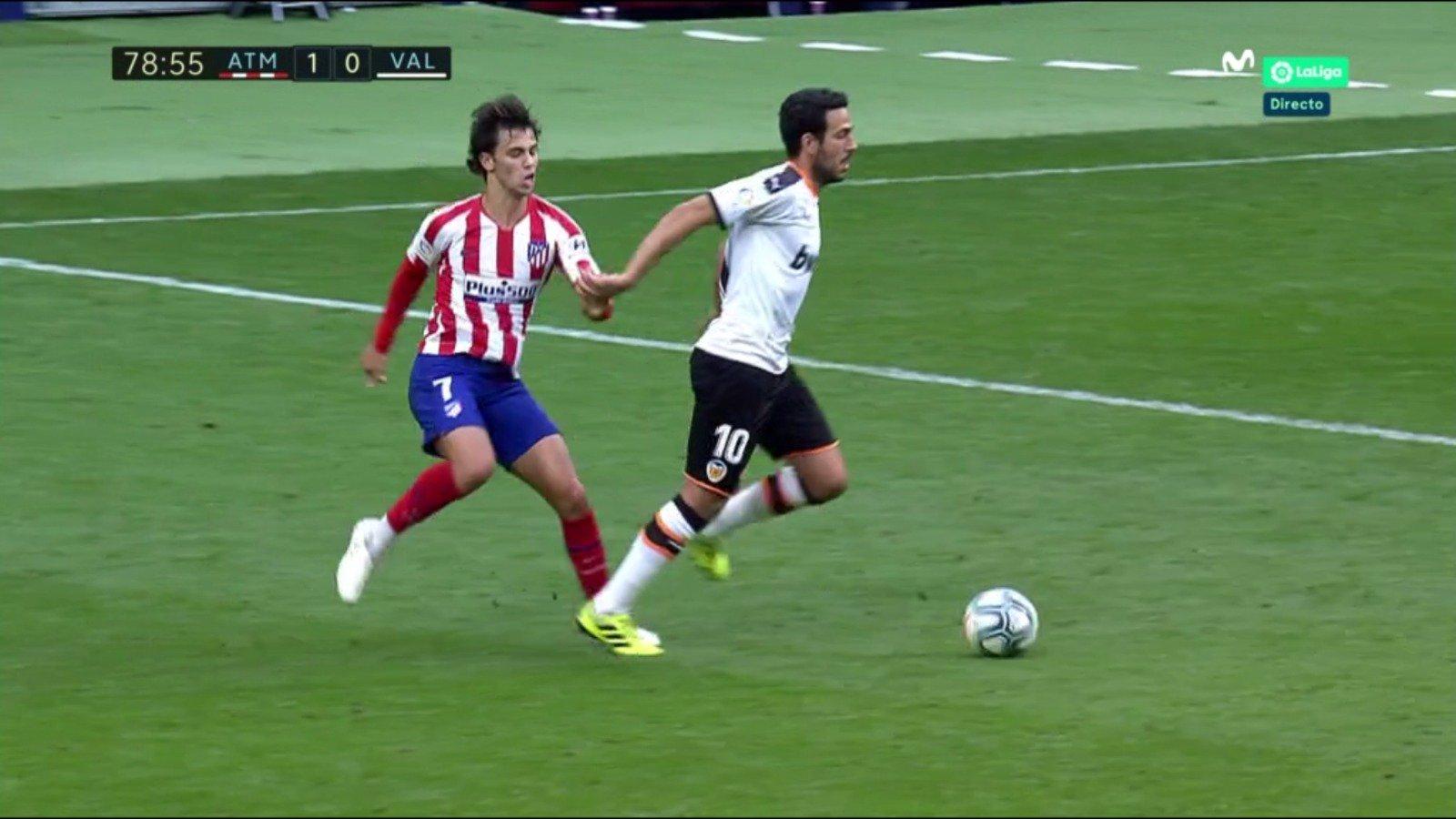 Joao Félix se lesiona en el duelo del Atlético de Madrid ante el Valencia.