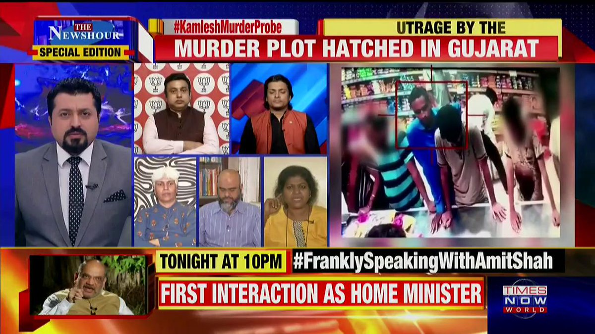 I think candle light marches are 'symbolic' of civil society's grief at innocent lives being lost: @cynstepin, Human Rights Activist tells Madhavdas G on @thenewshour Special Edition.   #KamleshMurderProbe