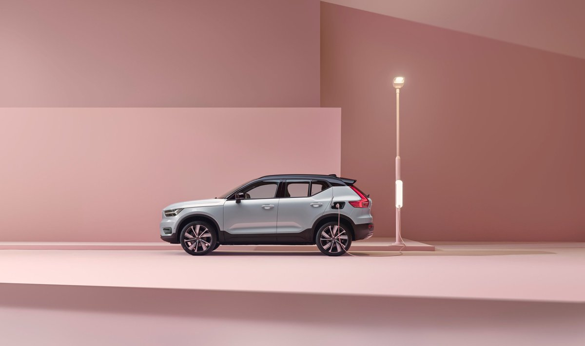 Volvo unveiled its first fully electric car — and a bold pledge to go carbon-neutral