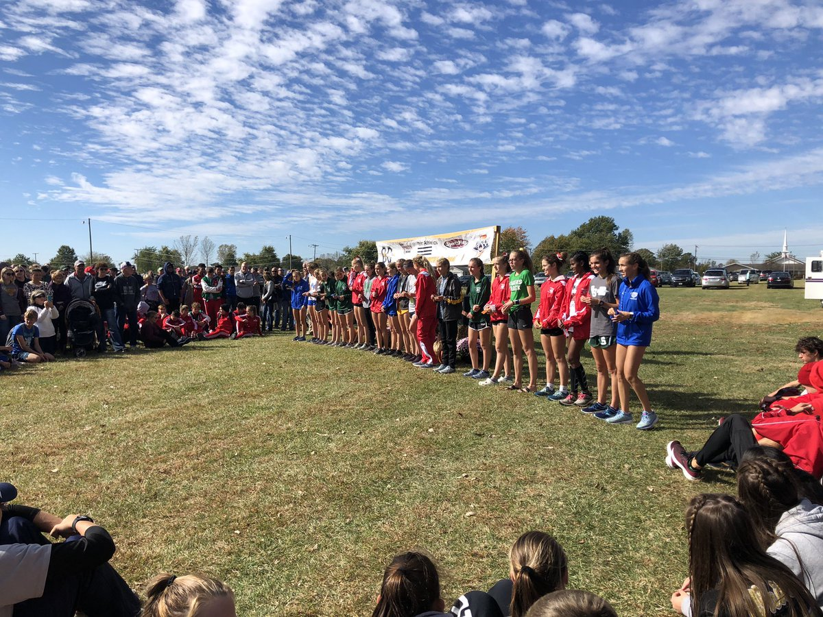 Top 20 girls at regionals. Congrats to Halle Hill for winning!