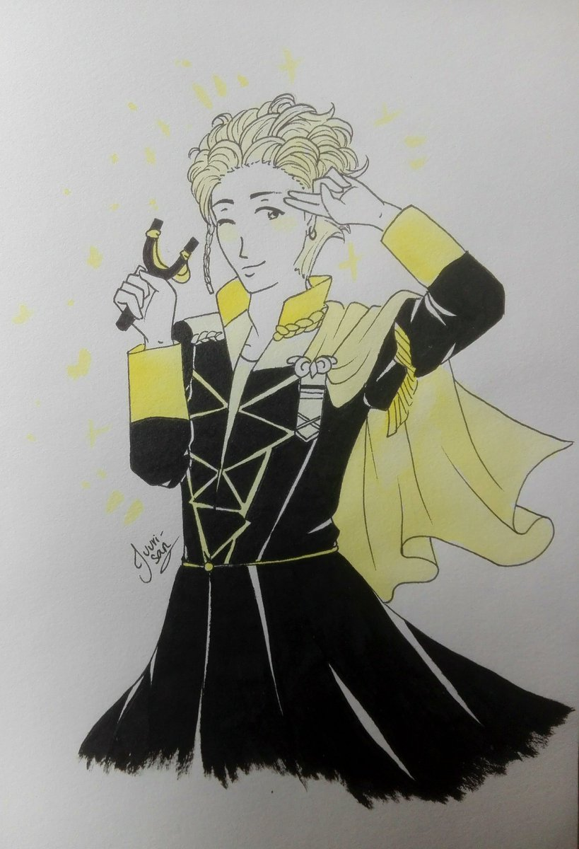 "Hey, it's #Inktoberday19 ! It's time for claude and his ""slide""  #Inktober2019 #inktober #FE3H #FireEmblemThreeHouses #Claude #ClaudeVonRiegan <br>http://pic.twitter.com/ygjEO5gF22"