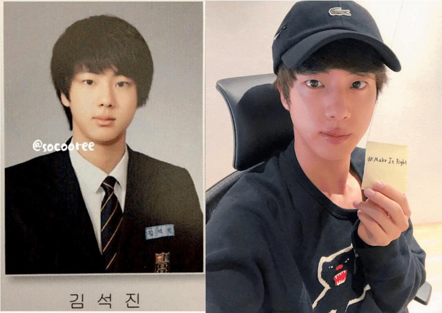 BTS Jin's high school photo ~ His selfie photo yesterday, Knetz react  https://www. knetizen.com/bts-jins-high- school-photo-his-selfie-photo-yesterday/  … <br>http://pic.twitter.com/sioWqC2Qcy