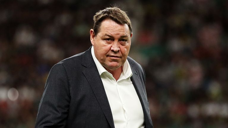 test Twitter Media - Steve Hansen praised his players' experience of knockout rugby as New Zealand emphatically booked their place in the semi-finals of #RWC2019  More here: https://t.co/FgSzt0hQcj https://t.co/Y0DXU9QCnc
