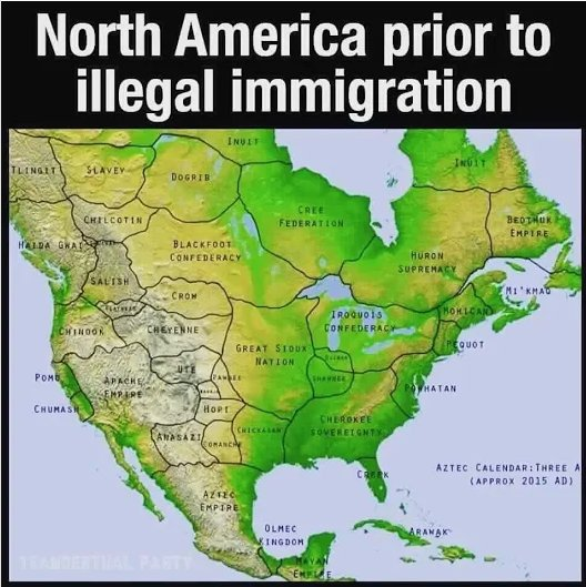 North America prior to illegal immigration   #Map #Maps #Terriblemaps #TerribleMap #USA #NorthAmerica #immigration <br>http://pic.twitter.com/jP3SzzD0Bh