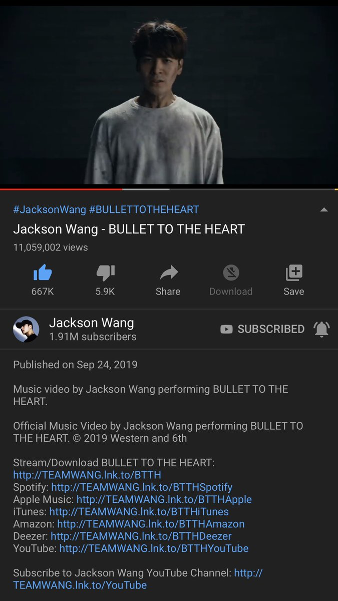 11M 11 million and congratulations JacksonWang  You are the best  We will advance to 20 million together. I will wait to hear the songs in your MIRRORS album. Love you @JacksonWang852 #JacksonWang #TEAMWANG #JacksonWang1stAlbum #Bulletotheheart <br>http://pic.twitter.com/6IKQkUF08E