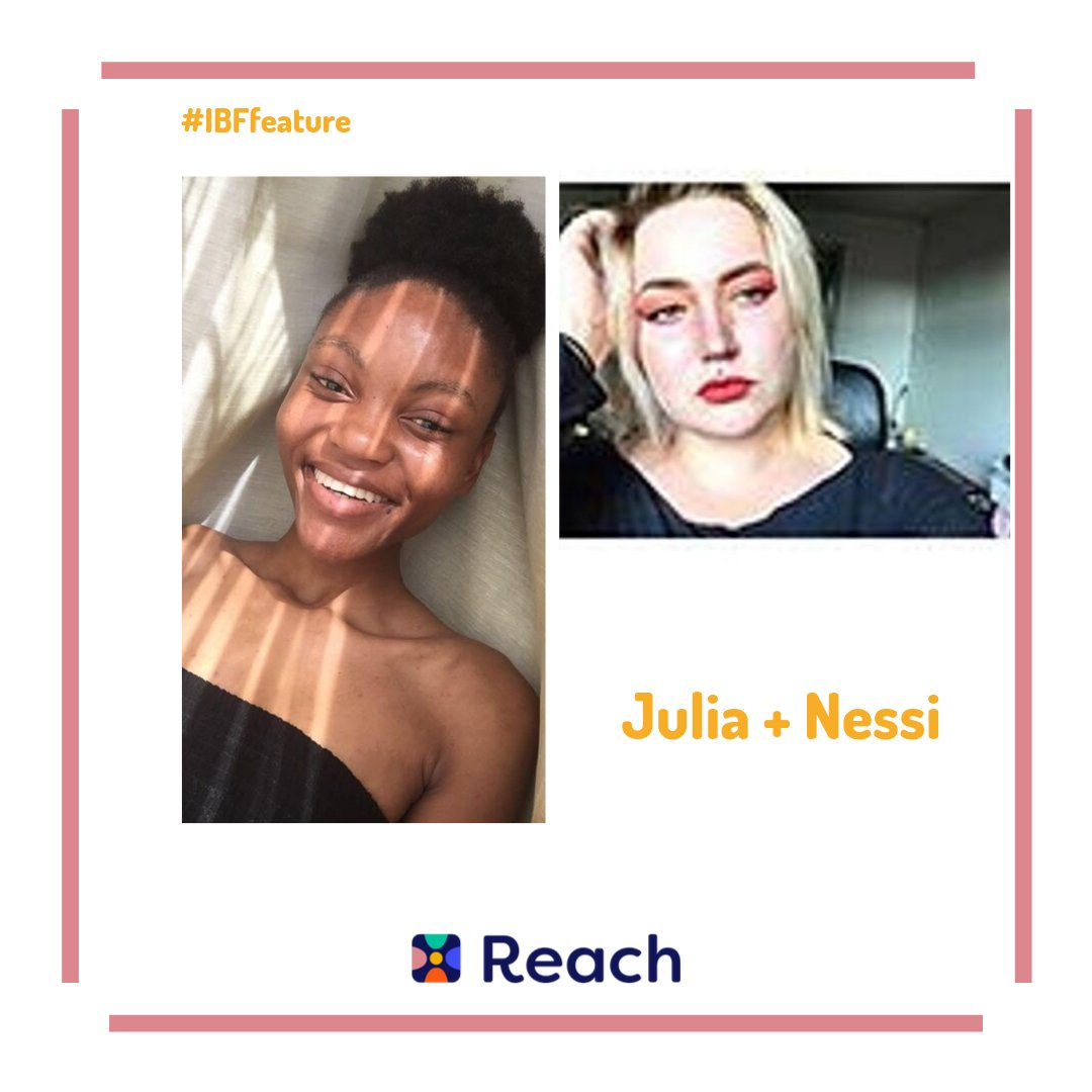 #IBFfeature! Nessi and Julia met on Reach in an Art Group, and now talk everyday ! Nessi loves how real Julia is, and how on Reach people can be themselves ! Tag your Reach IBF below!  #Reach #IBF #ReachYourIBFs #IBFgoals #InternetBestFriendspic.twitter.com/RvW8S6pTZA