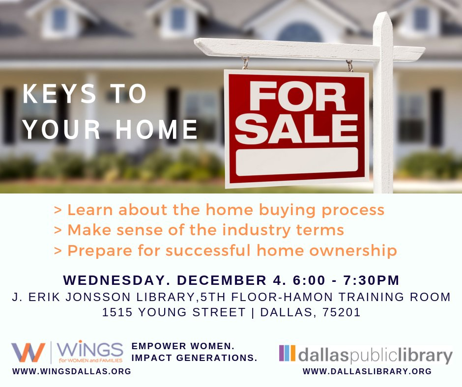 test Twitter Media - Mark your calendars! Join us on December 4th at the Dallas Library to learn all about the home buying process! This is a no-cost workshop to help you prepare for one of the biggest purchases you'll make! Next step: home ownership! #dallasclasses #dallaslibrary #dallaseducation https://t.co/IqggPUtSh5