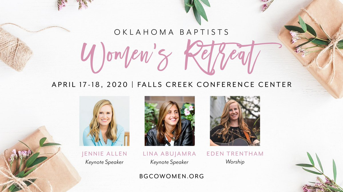 test Twitter Media - Registration for the Oklahoma Women's Retreat opens on November 4th at 10am. We can't wait to see you there! The cost is $75 for adults and $50 for students (ages 14-17). Find more information at https://t.co/sXpLUER0iT!  More speakers will be announced soon! https://t.co/deQCOzVNnw