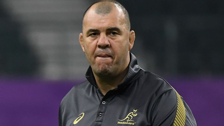 """test Twitter Media - """"If you'd find it inside you to find a little bit of compassion for people who are hurting, to just ask the more relevant questions""""  Michael Cheika was upset by questions about his future as Australia's head coach after their defeat   More here: https://t.co/T2YuVG28GQ https://t.co/6GipOdfLLq"""