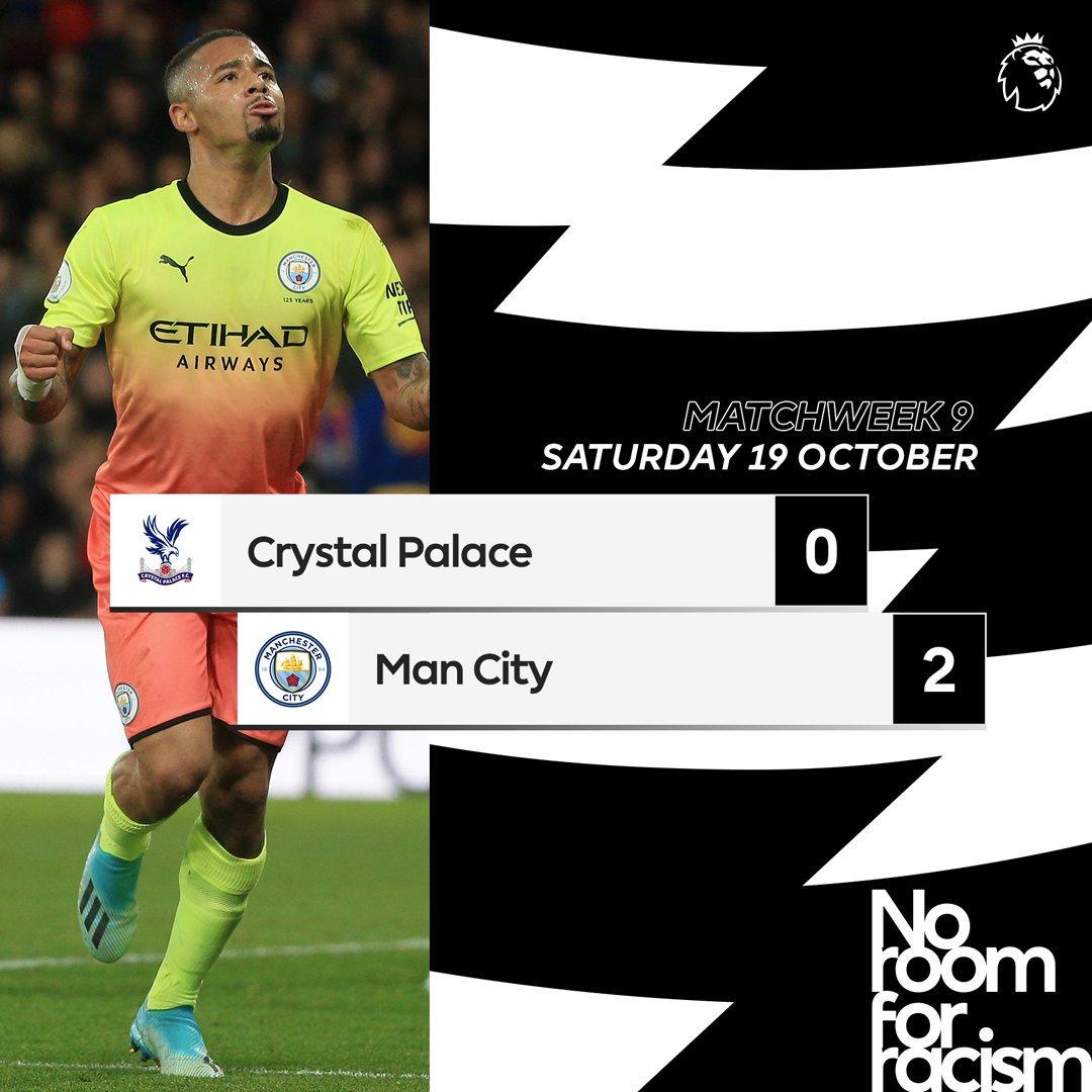 Premier League : Man City se reprend à Crystal Palace