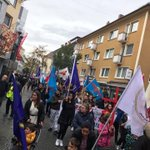 Image for the Tweet beginning: Demonstration in Giessen, Germany denouncing