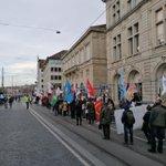 Image for the Tweet beginning: Demonstration in Zürich, Switzerland denouncing