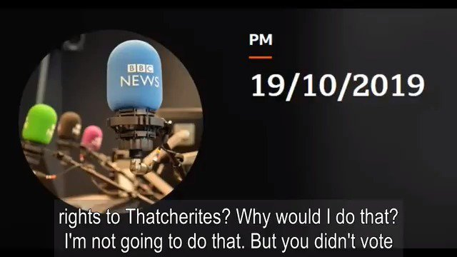 Why would I get into politics to sign away workers rights to Thatcherites? On @BBCRadio4s @BBCPM programme a little earlier: