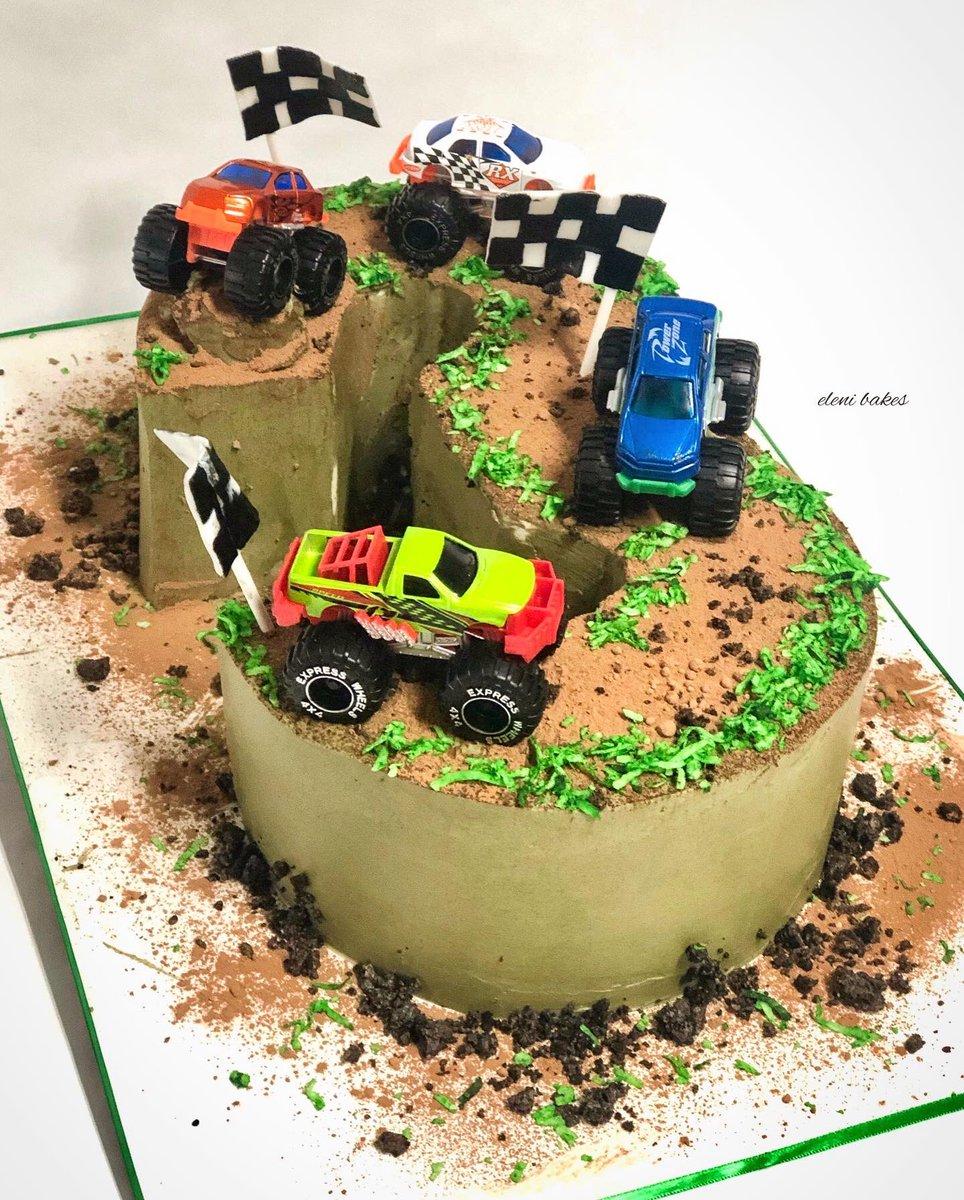 Strange Eleni Bakes On Twitter Monster Truck Cake 3 Smooth Personalised Birthday Cards Vishlily Jamesorg