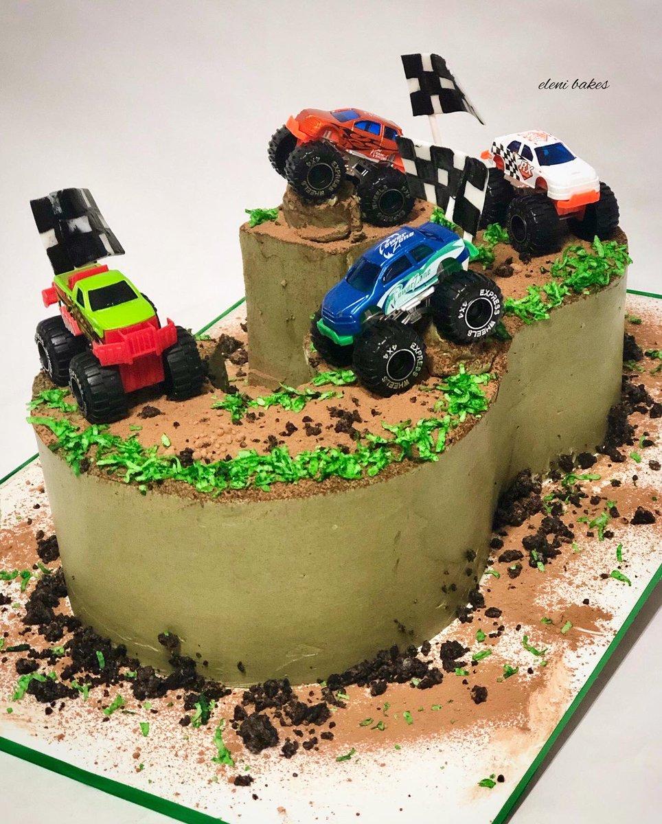 Tremendous Eleni Bakes On Twitter Monster Truck Cake 3 Smooth Personalised Birthday Cards Vishlily Jamesorg