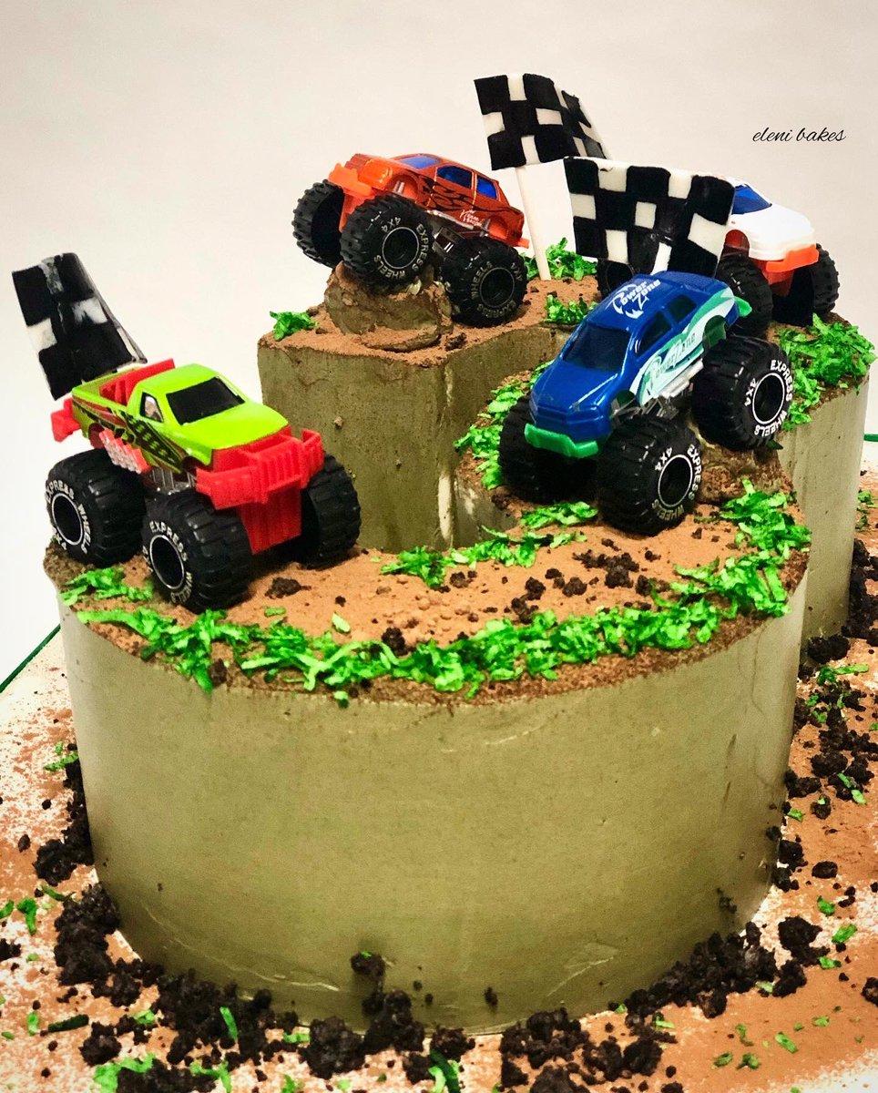 Awe Inspiring Eleni Bakes On Twitter Monster Truck Cake 3 Smooth Personalised Birthday Cards Vishlily Jamesorg