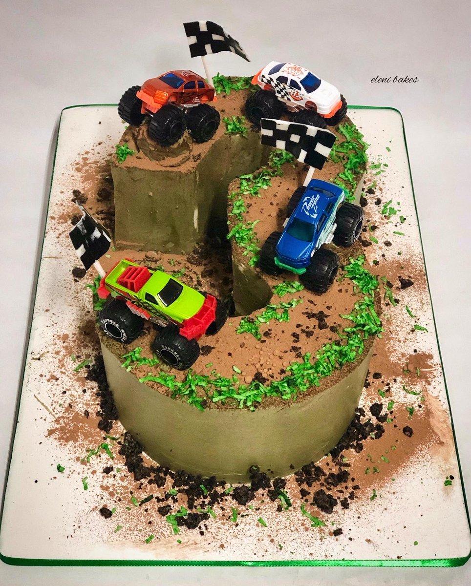 Peachy Eleni Bakes On Twitter Monster Truck Cake 3 Smooth Personalised Birthday Cards Vishlily Jamesorg