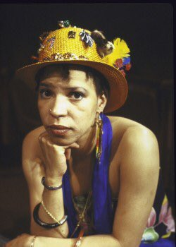 """""""I write for young girls of color, for girls who don't even exist yet, so that there is something there for them when they arrive. I can only change how they live, not how they think. — Ntozake Shange 📸: Shange by Martha Swope. #blackwomenradicals"""