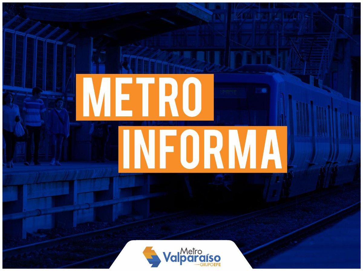 RT @MetroValpo ATENCIÓN: Metro Valparaíso informa que finaliza sus servicios de hoy a partir de este momento. (Los pasajeros en tránsito podrán salir en su estación de destino).