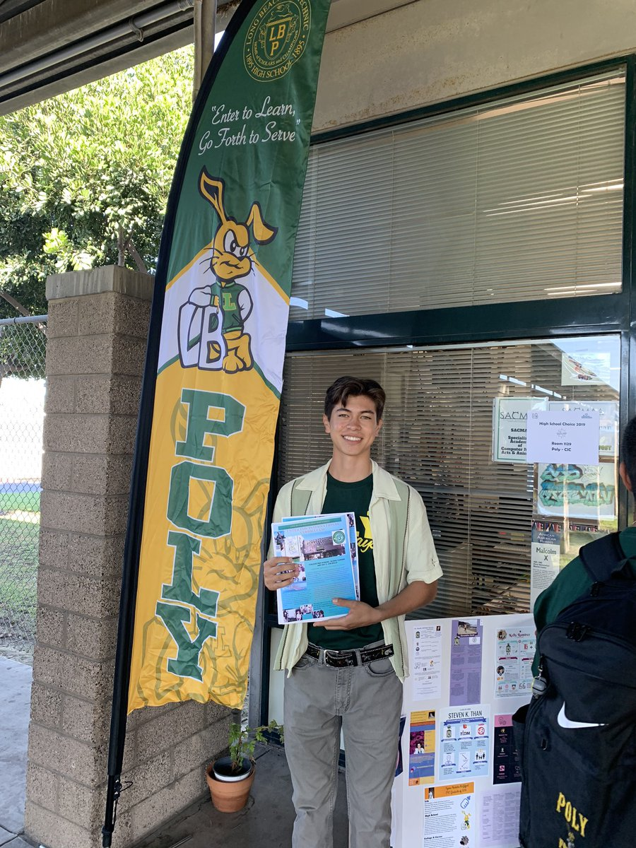 HS Choice: We want everyone to be a @polyjackrabbits, but more importantly we want you to find the best fit for you and your family. No bad choices in @LBSchools but there is a best fit for you. #ProudtobeLBUSD #LBPolyPathways