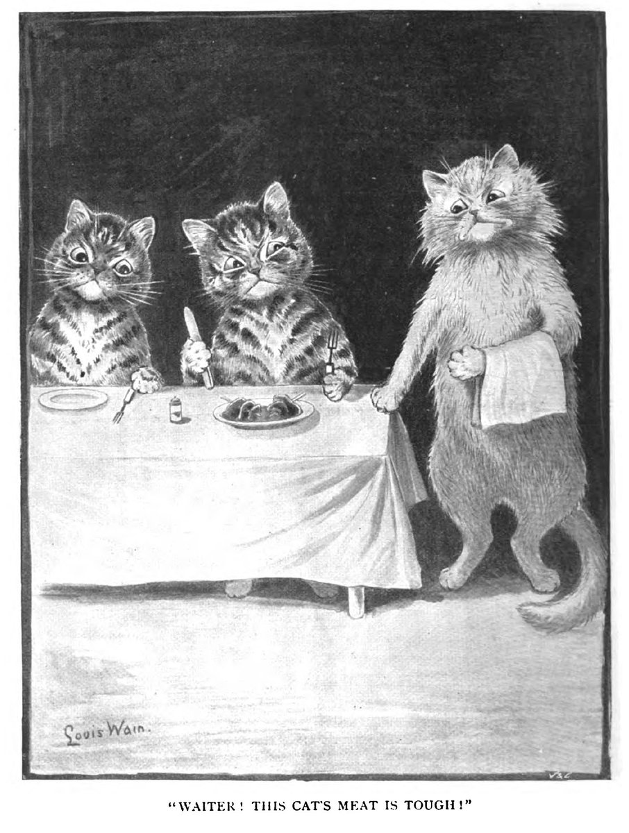 Illustration from a magazine from around 1900. Not sure I get the joke, not sure I want to.