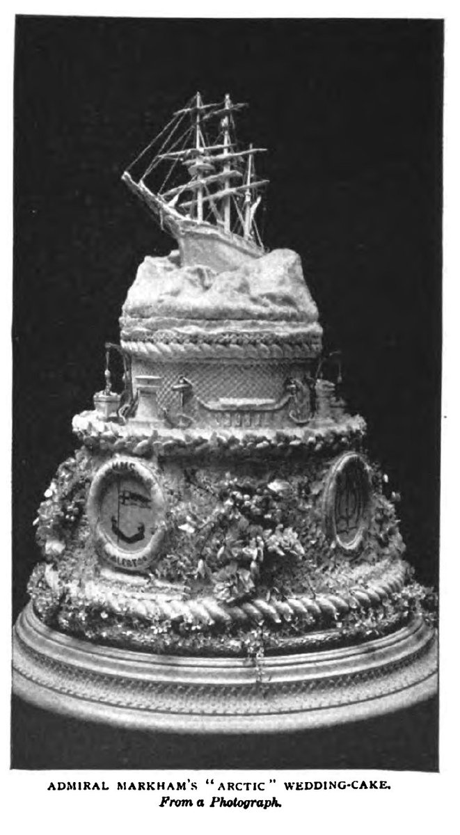 An admiral's wedding cake, c. 1900.
