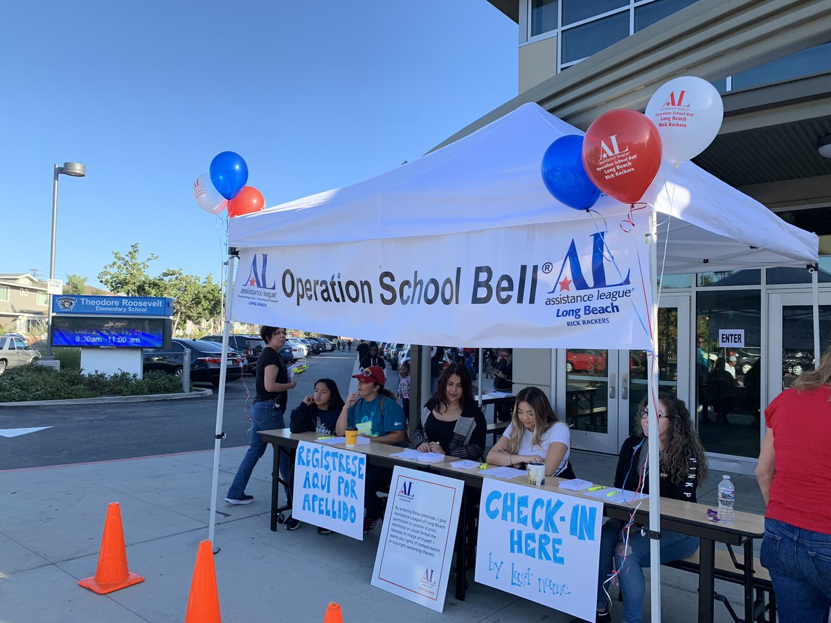 Action Pack Day at Roosevelt.  Thank you Assistance League of Long Beach for making this such a successful event. We love Operation School Bell! #proudtobelbusd