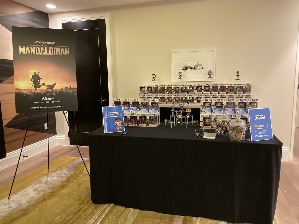 Representing @OriginalFunko at the @disneyplus press junket! #TheMandalorian