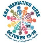 Image for the Tweet beginning: Happy #MediationWeek! - @ABAesq