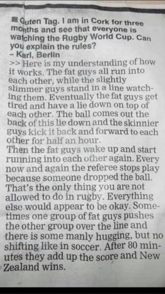 What is rugby?  (I don't know where this is from, if it's old or if everyone has already seen it. But if it's new to you, read it to the end.)<br>http://pic.twitter.com/Fjvcrk6Yia
