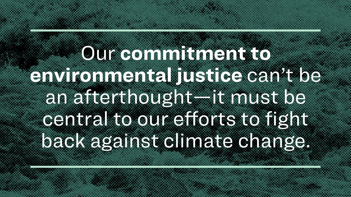 Communities on the front lines of the climate crisis have already faced industrial pollution, devastating floods, ruined lands, and poisoned water. Justice cannot be an afterthought in our fight against climate change—it must be central to our fight. ewar.ren/envi-justice