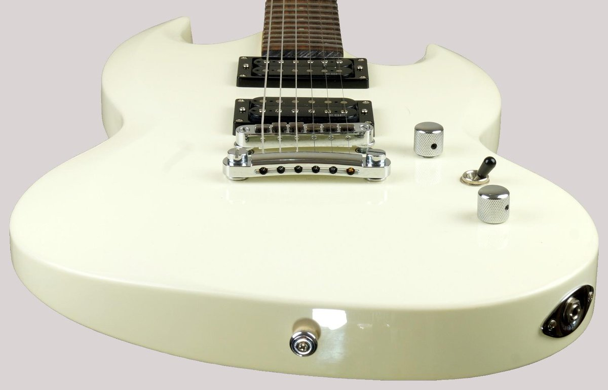 white chinese esp viper-50 guitar