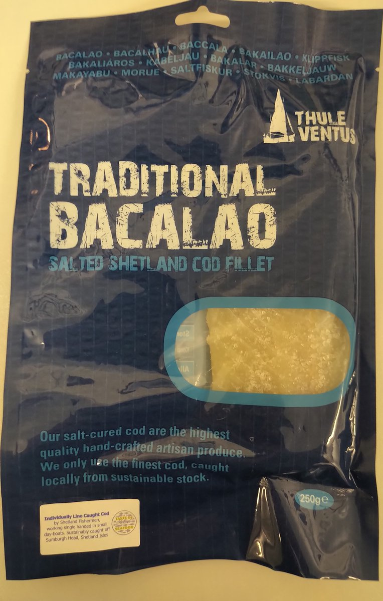 Wet Salt Cod - BacalaoWe're delighted to offer our new wet salt cod product. Vacuum packed in 250g pouches, with a 4-month chilled shelf life. Available to retail and wholesale only. Ideal for Foodhalls, Farmshops and Fishmongers.