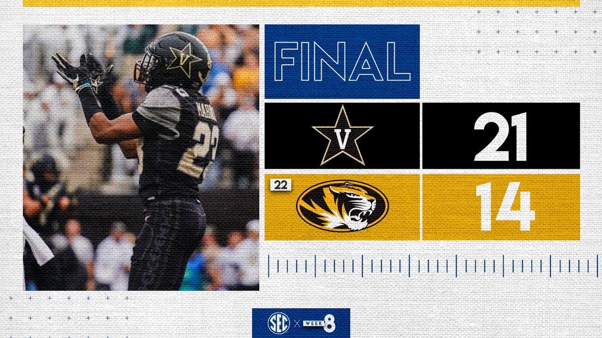 .@VandyFootball WINS!!!   The Dores grab their first conference win of the season.    #AnchorDown<br>http://pic.twitter.com/LlpF6peskX