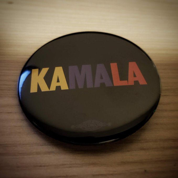 Happy Birthday to Kamala Harris. Pictured Below is a 2020 campaign button.