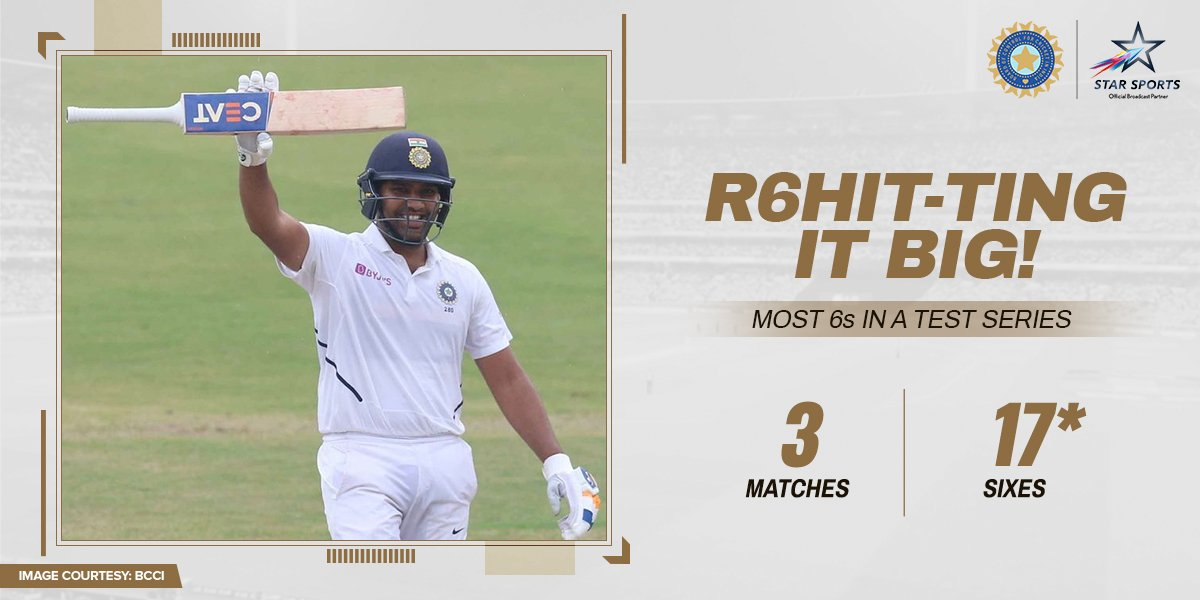 There are hitters.There are big-hitters.And then there's Rohit Sharma! 🤷♂️Can he add more to his tally?⚔️: 3rd Test, Paytm Freedom Trophy #INDvSA, Day 2⌛️: NOW📺: Star Sports and Hotstar