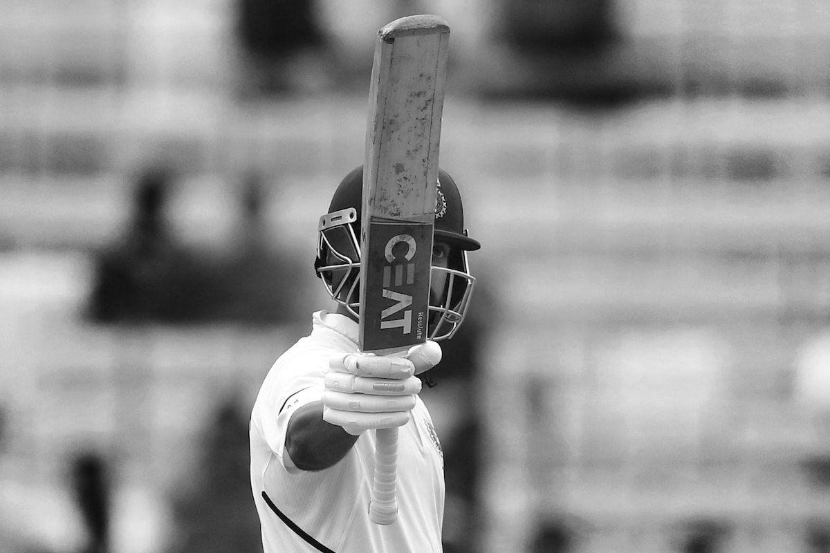 Here it is!  A stupendous 11th Test CENTURY for #TeamIndia vice-captain @ajinkyarahane88   #INDvSA<br>http://pic.twitter.com/bm4QIoL2Hg