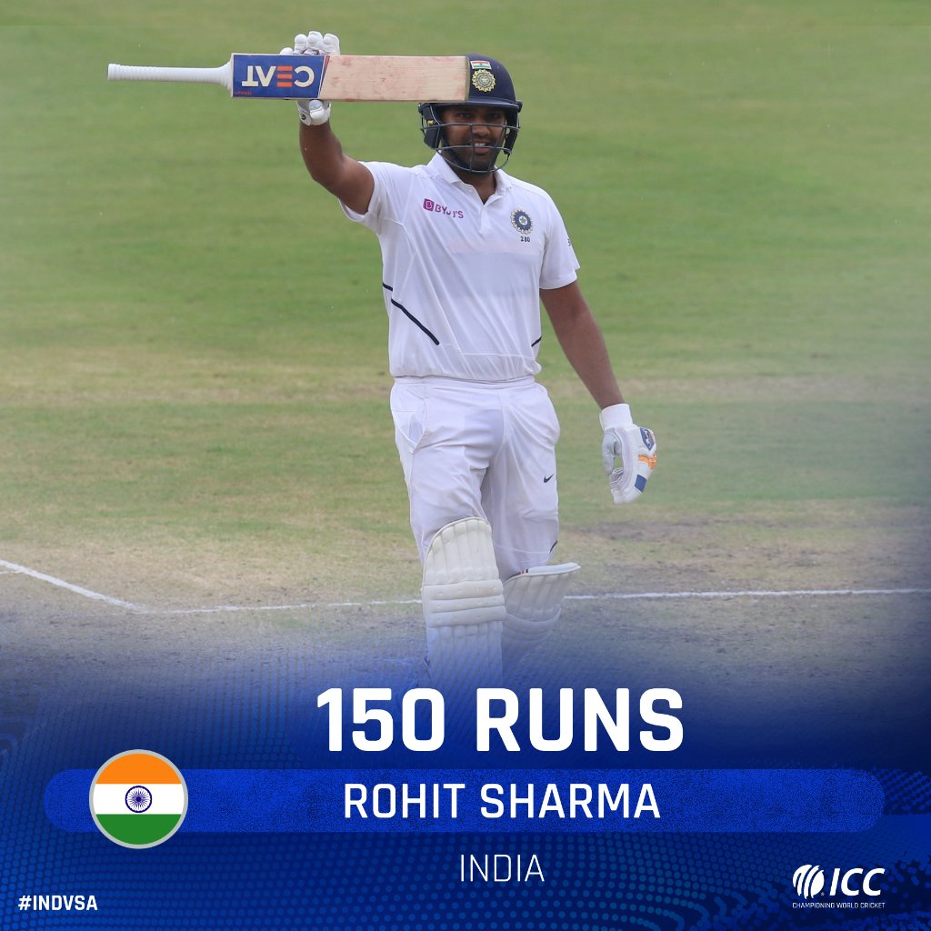 150 up for Rohit Sharma. His Test batting average in India is over 100 right now 🤯The hosts are on a roll in Ranchi. Follow #INDvSA LIVE 👉http://bit.ly/IndvsSA6
